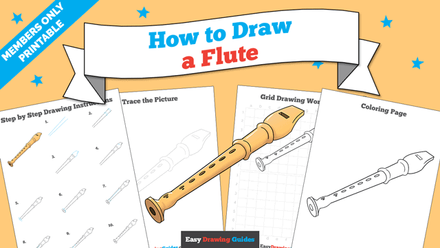 download a printable PDF of Flute drawing tutorial