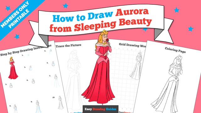Printables thumbnail: How to Draw Aurora from Sleeping Beauty