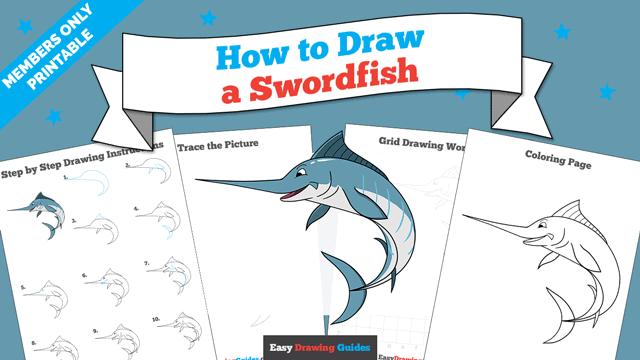 Printables thumbnail: How to Draw a Swordfish