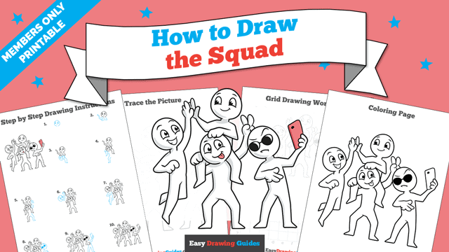 download a printable PDF of Squad drawing tutorial