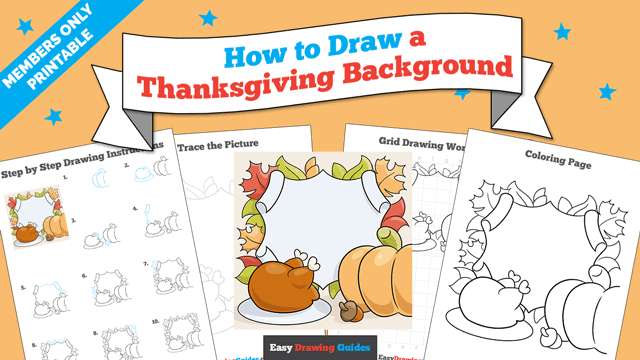 Printables thumbnail: How to Draw a Thanksgiving Background
