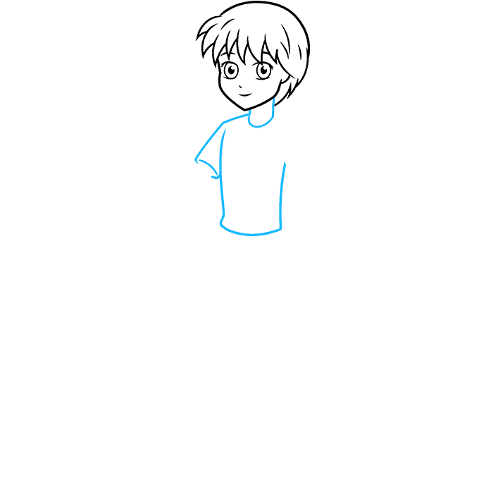 How to Draw an Anime Boy Full Body Step 04