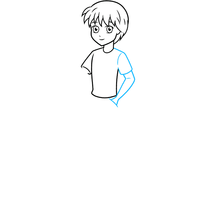 How to Draw an Anime Boy Full Body Step 05