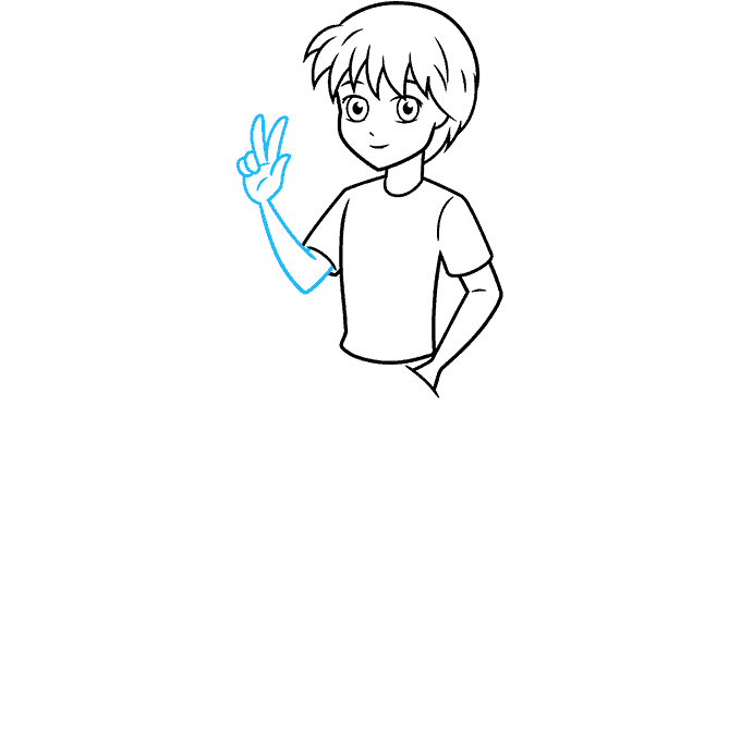 How to Draw an Anime Boy Full Body Step 06