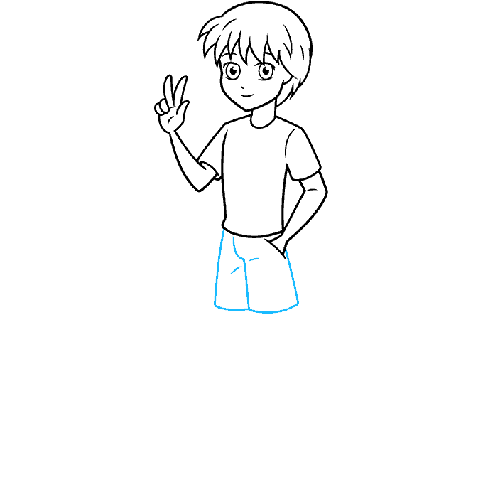 How to Draw an Anime Boy Full Body Step 07