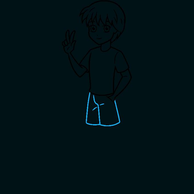 How to Draw Anime Boy Full Body: Step 7