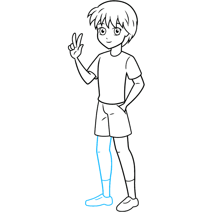How to Draw an Anime Boy Full Body Step 09