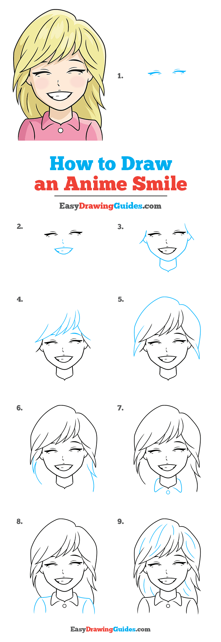 How to Draw Anime Smile
