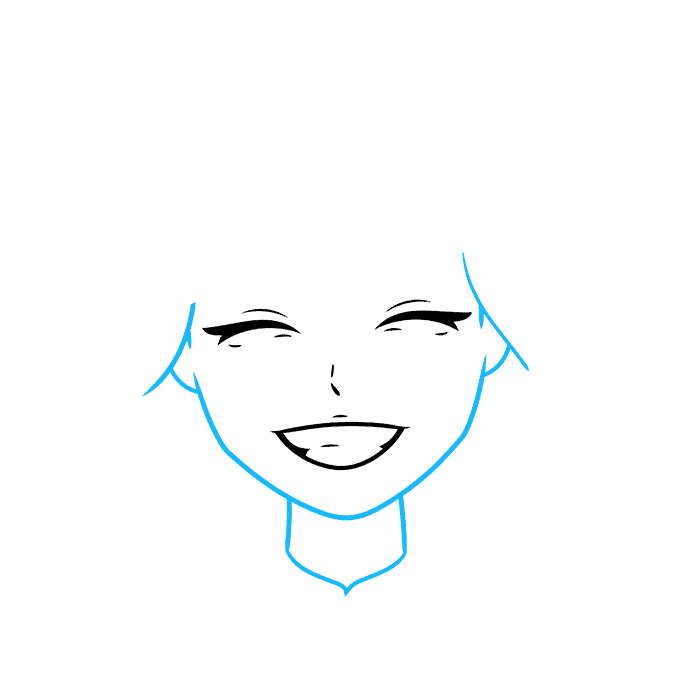 How to Draw Anime Smile: Step 3