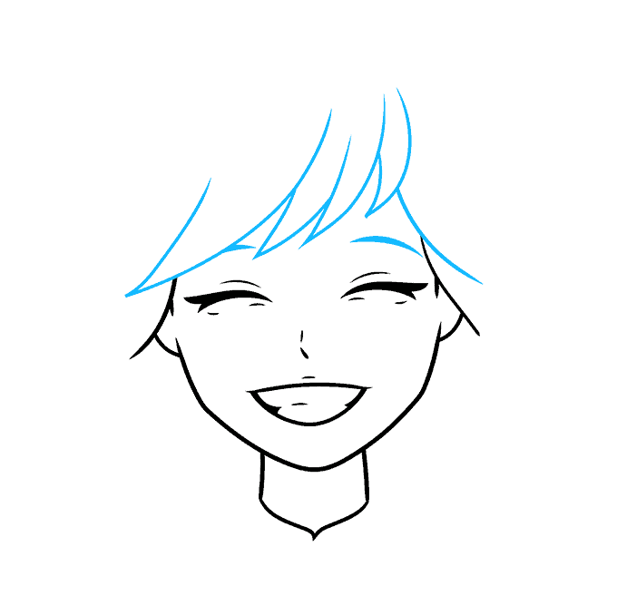 How to Draw Anime Smile: Step 4