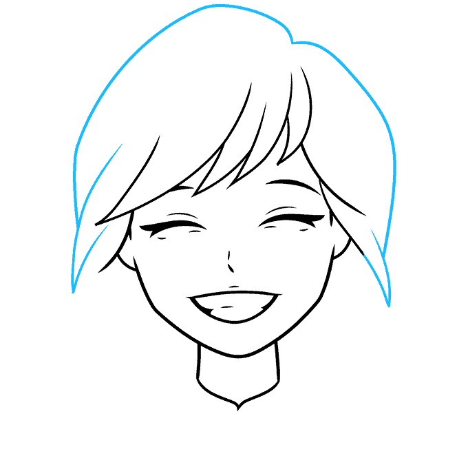 How to Draw Anime Smile: Step 5