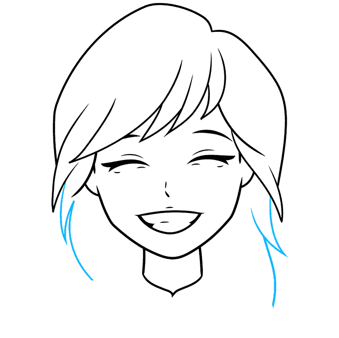 How to Draw Anime Smile: Step 6