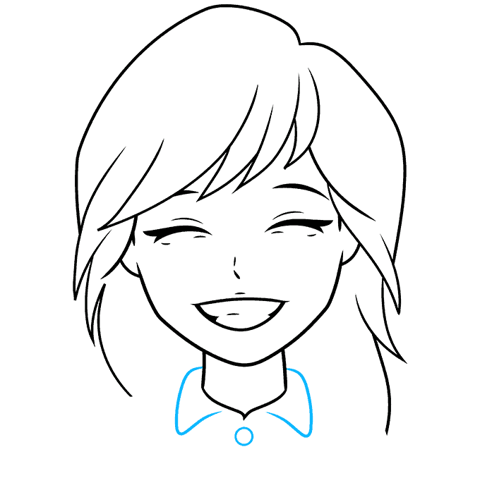 How to Draw Anime Smile: Step 7