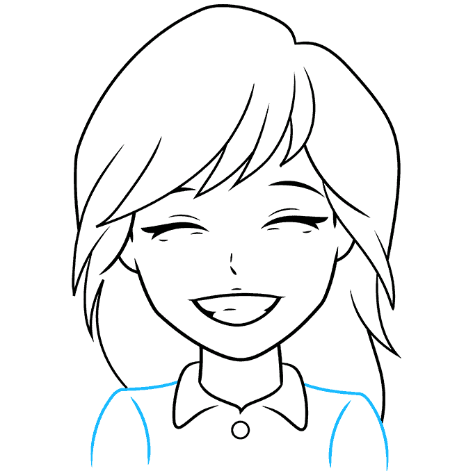 How to Draw Anime Smile: Step 8
