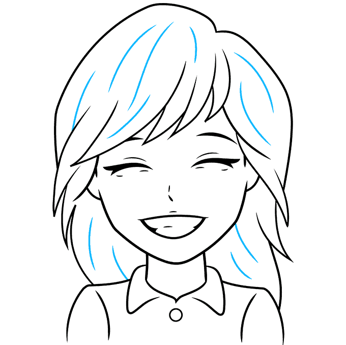 How to Draw Anime Smile: Step 9