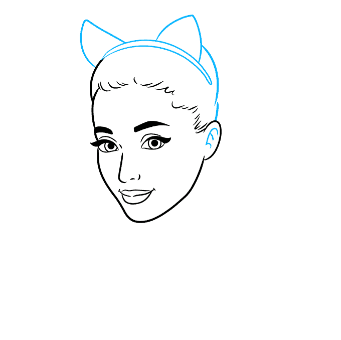 How to Draw Ariana Grande: Step 5