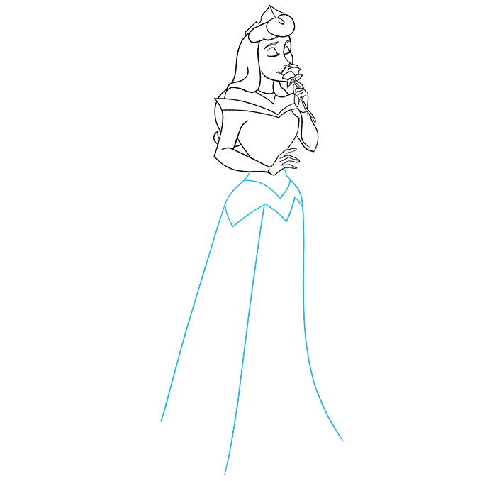 How to Draw Aurora from Sleeping Beauty Step 07