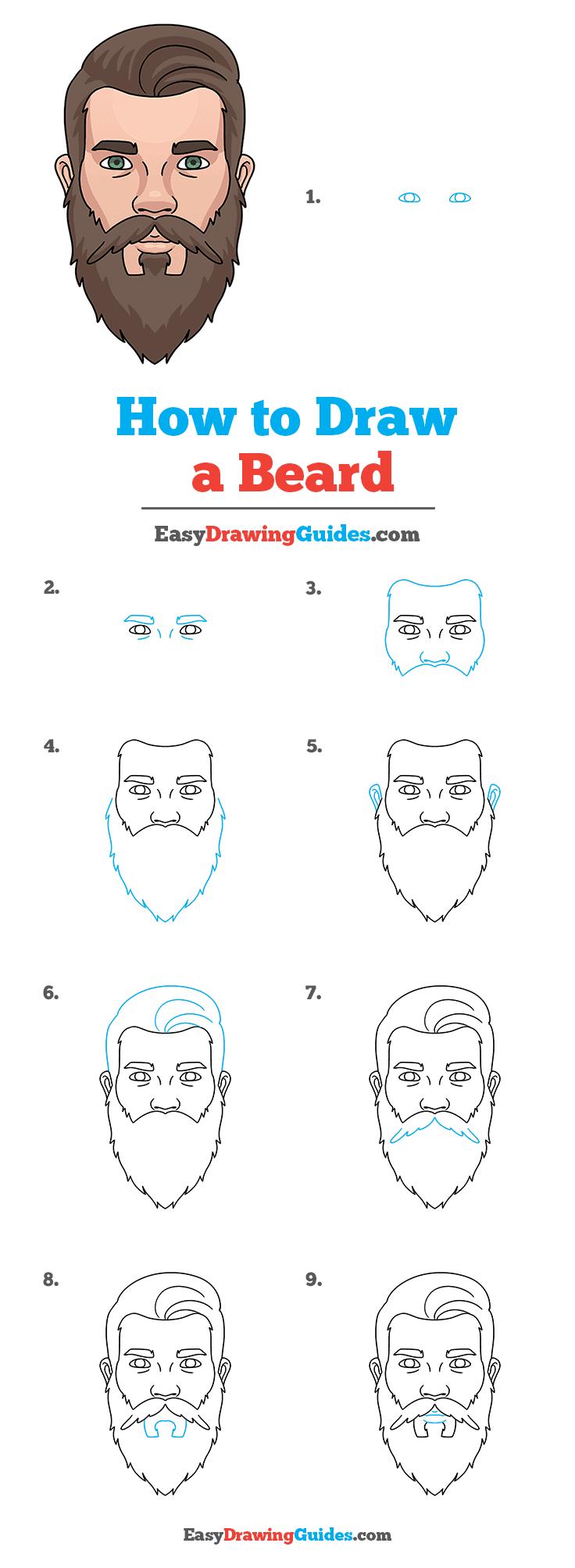 How to Draw Beard