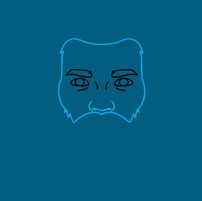How to Draw Beard: Step 3