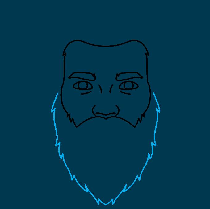 How to Draw Beard: Step 4