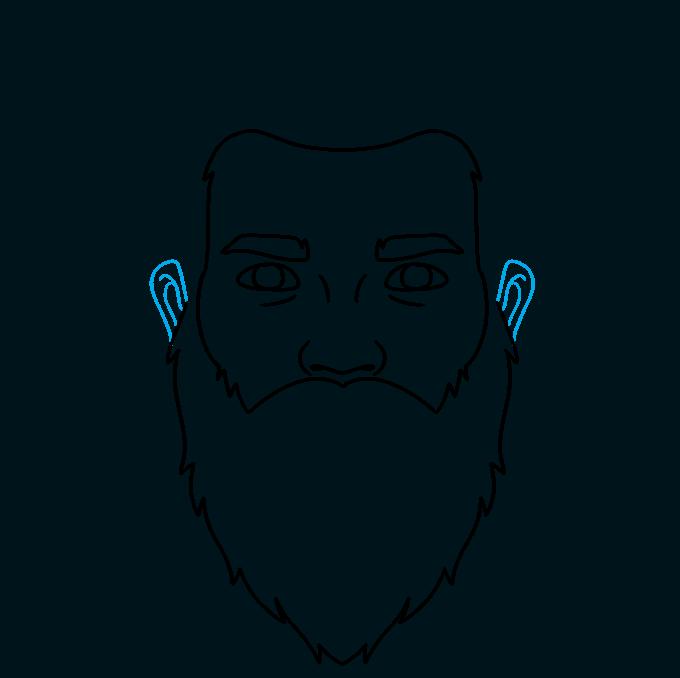 How to Draw Beard: Step 5