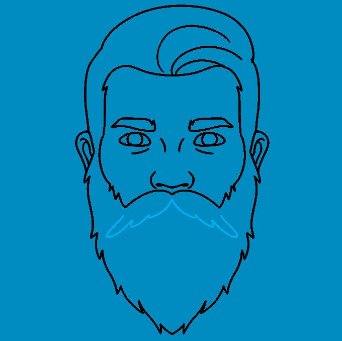 How to Draw Beard: Step 7
