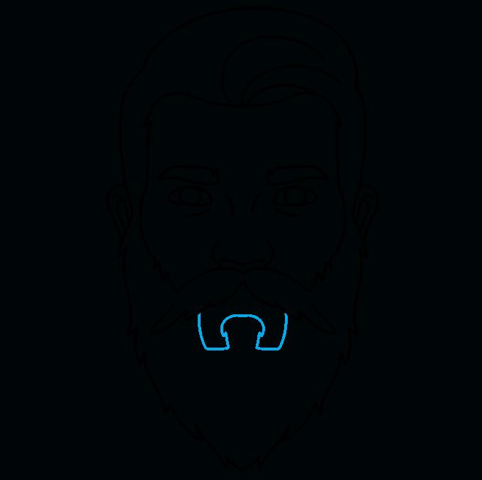 How to Draw Beard: Step 8