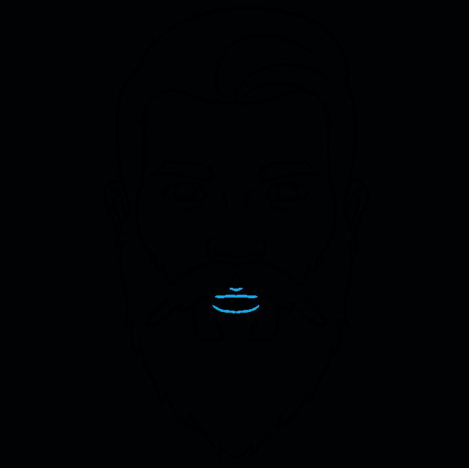 How to Draw Beard: Step 9