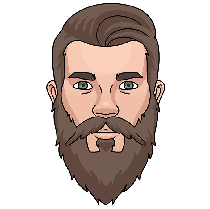 How to Draw Beard: Step 10