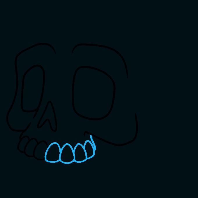 How to Draw a Cartoon Skull Step 05