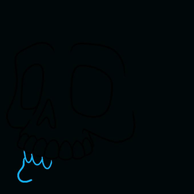 How to Draw a Cartoon Skull Step 06