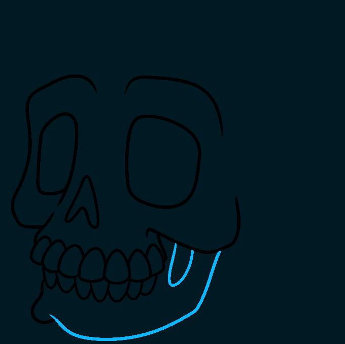 How to Draw a Cartoon Skull Step 08