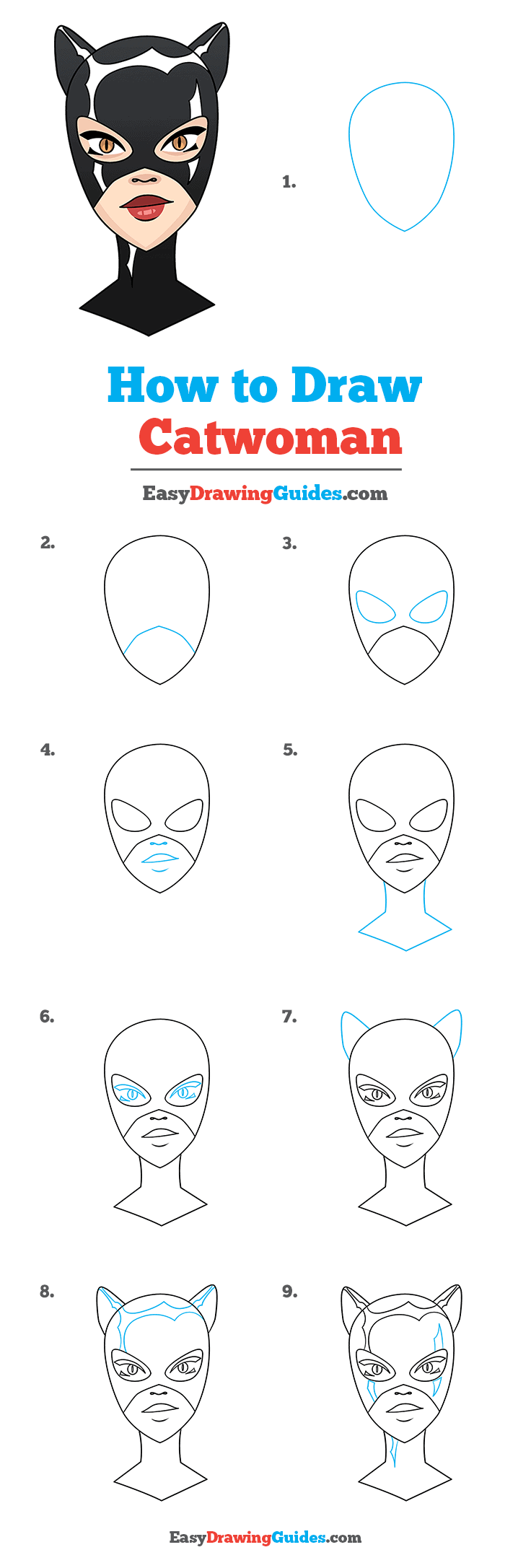 How to Draw Catwoman