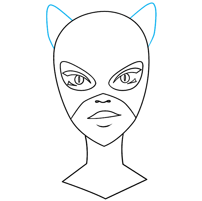 How to Draw Catwoman: Step 7