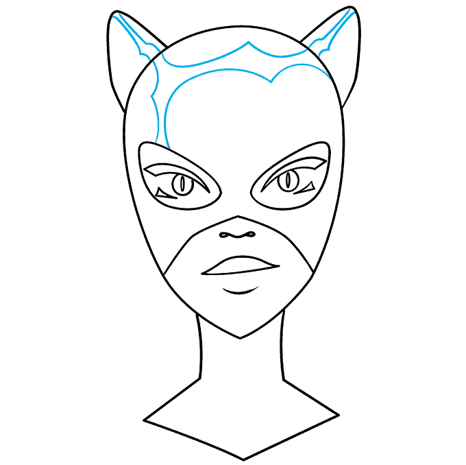 How to Draw Catwoman: Step 8