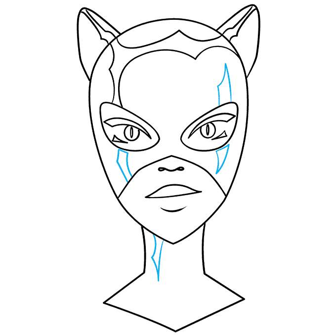 How to Draw Catwoman: Step 9