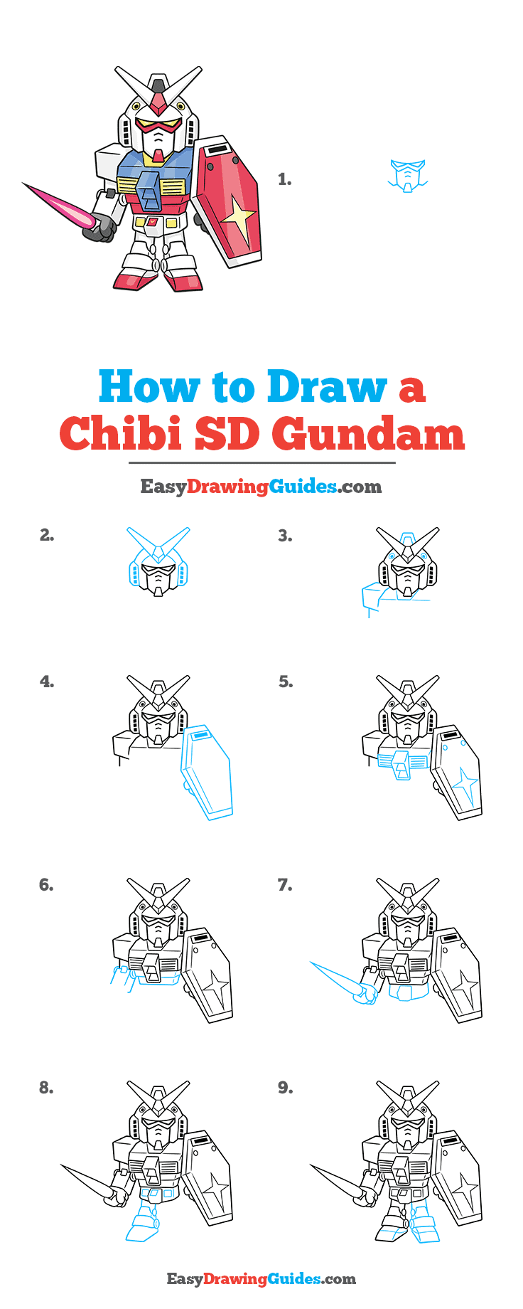 How to Draw Chibi SD Gundam
