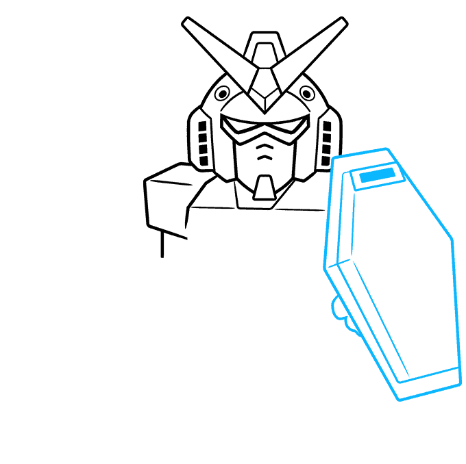 How to Draw Chibi SD Gundam: Step 4