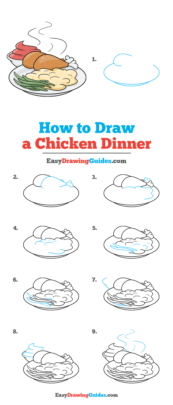 How to Draw Chicken Dinner