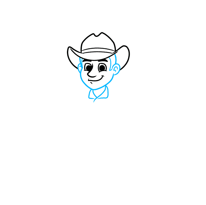 How to Draw a Cowboy Step 03