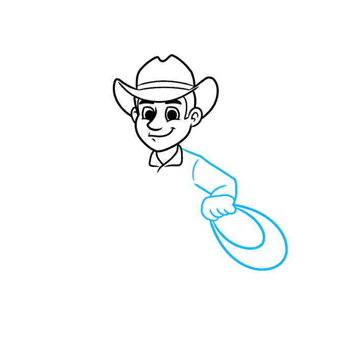 How to Draw a Cowboy Step 04