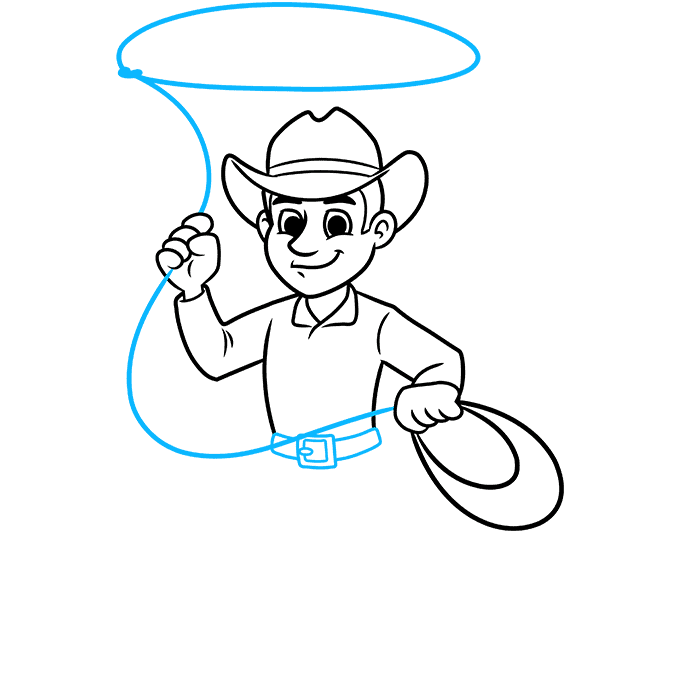 How to Draw a Cowboy Step 06
