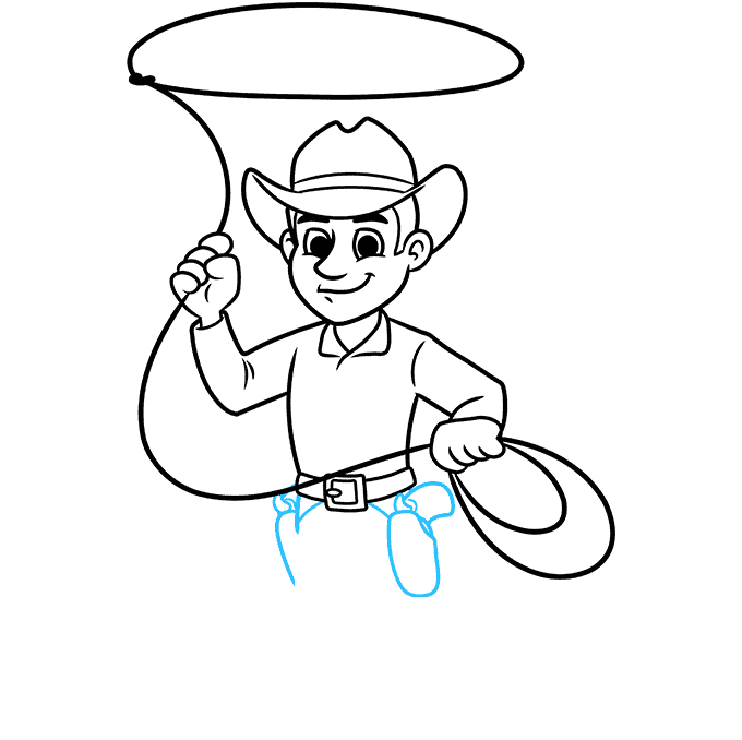 How to Draw a Cowboy Step 07