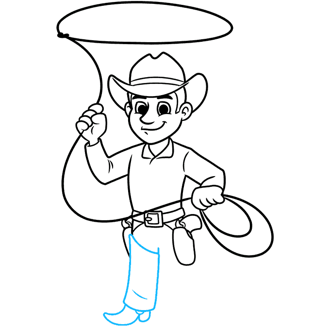 How to Draw a Cowboy Step 08