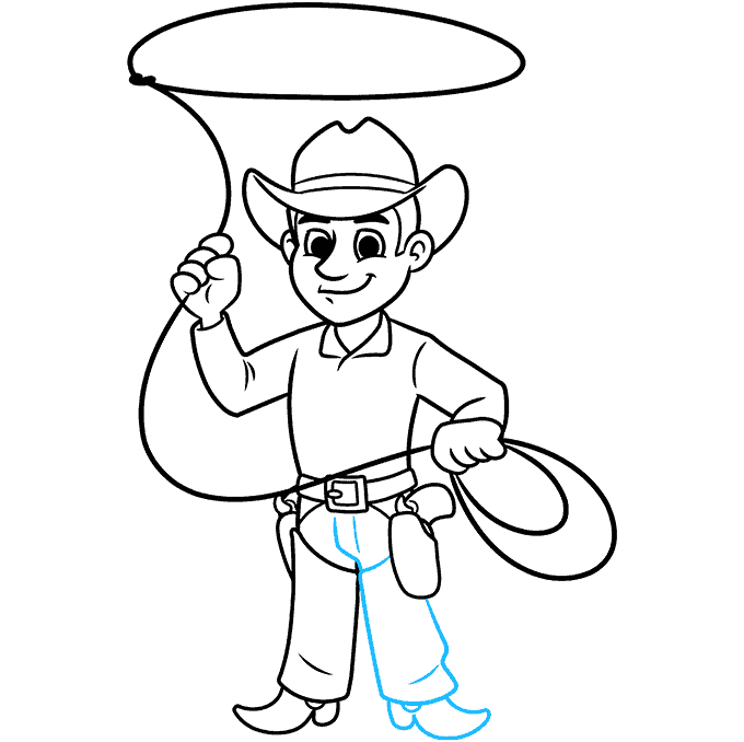 How to Draw a Cowboy Step 09