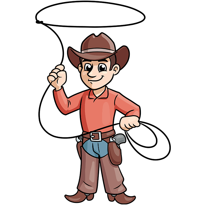 How to Draw a Cowboy Step 10