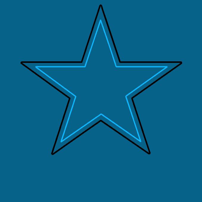 How to Draw Dallas Cowboys Logo: Step 2