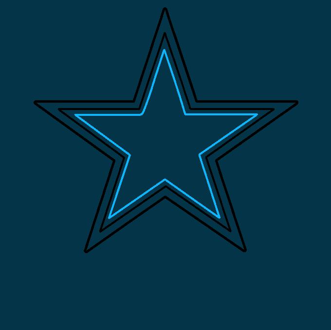 How to Draw Dallas Cowboys Logo: Step 3