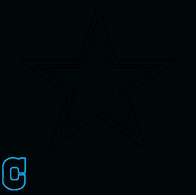 How to Draw Dallas Cowboys Logo: Step 4