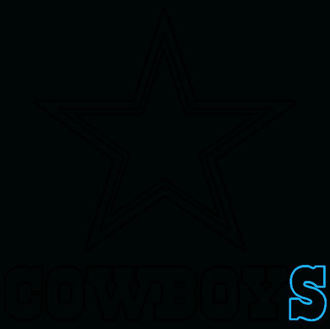 How to Draw Dallas Cowboys Logo: Step 9